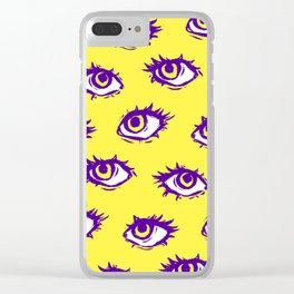 Stay Weird (Yellow) Clear iPhone Case