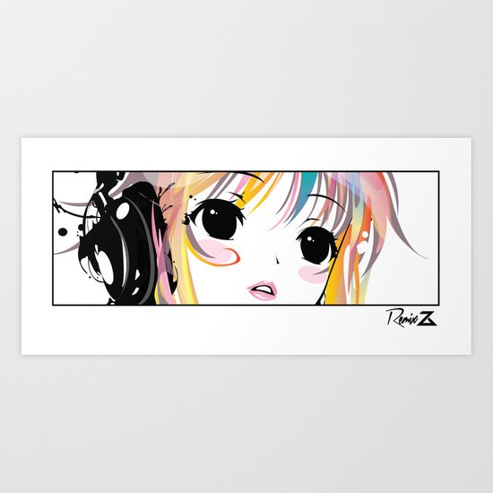 Yuki Remix Blocked Art Print
