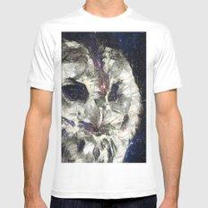 cosmic owl Mens Fitted Tee White MEDIUM