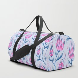Fire Flower - Light Pink Duffle Bag