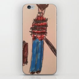New Zombie case Zeke trapped iPhone Skin