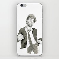 tom waits iPhone & iPod Skins featuring Tom Waits: The Early Years by Andy Christofi