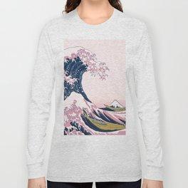 The Great Pink Wave off Kanagawa Long Sleeve T-shirt