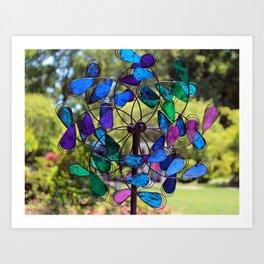 Garden Colored Fan Art Print