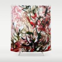magnolia Shower Curtains featuring Magnolia by Stina ART de Luna