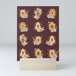Secret Garden Forest Locks Mini Art Print