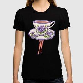 Tea Cup Pin-Up T-shirt
