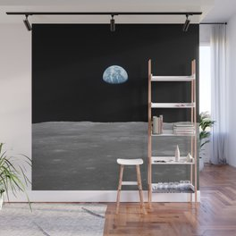 Earth rise over the Moon Wall Mural