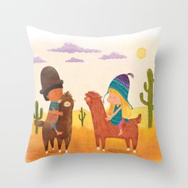 Friends in Mexico Throw Pillow