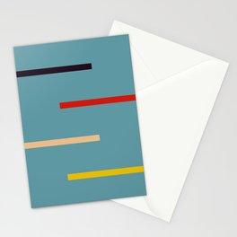 Abstract Retro Stripes Miranda Stationery Cards