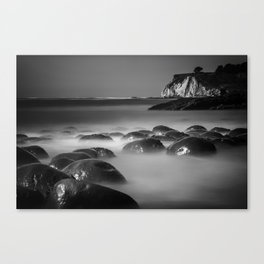 Exposed Bowling Ball Beach Northern California Canvas Print