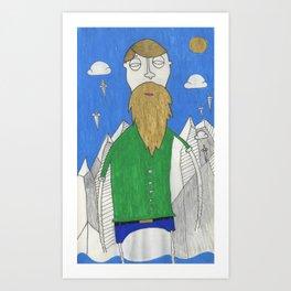The Mountain Man Art Print