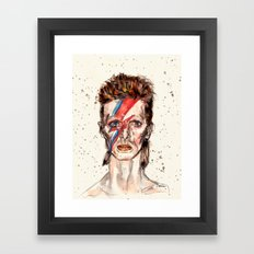 Bowie Inspired David Framed Art Print