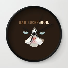 Grumpy Bad Luck Cat Wall Clock
