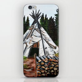 Walking Out Ceremony Teepee iPhone Skin