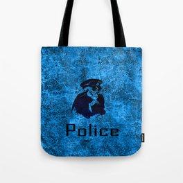 police skull Tote Bag