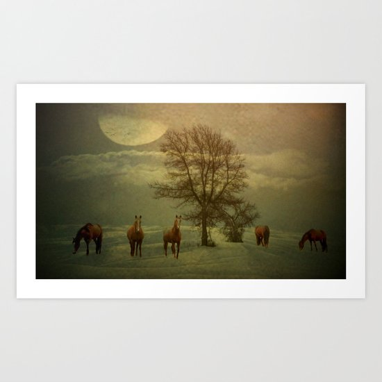 A Winters Evening Art Print