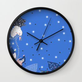 reve bleu Wall Clock