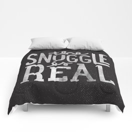 Snuggle is real - black Comforters