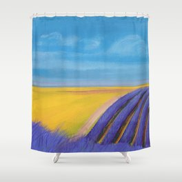 LAVENDER FIELD of SANTA YNEZ Shower Curtain