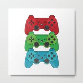 RGB Controllers Metal Print