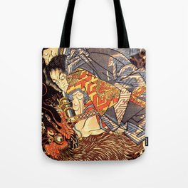 Fight With Tengu Tote Bag