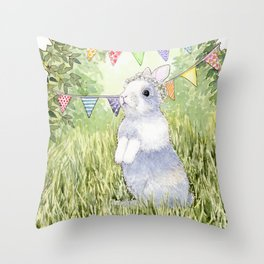 Bunny's Birthday Throw Pillow