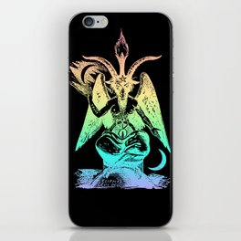 Pastel Rainbow Baphomet iPhone Skin