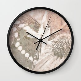 butterfly haze Wall Clock