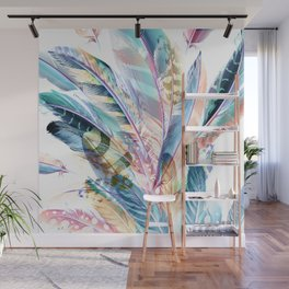 Cosmic Feathers Wisdom of Love Wall Mural