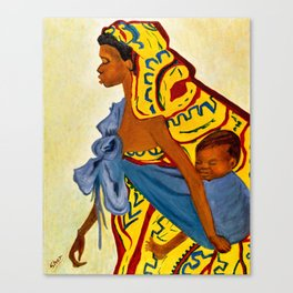 Mama Toto African Mother and Child - Sher Nasser Artist Canvas Print