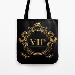 VIP In Black and Goldtone Tote Bag