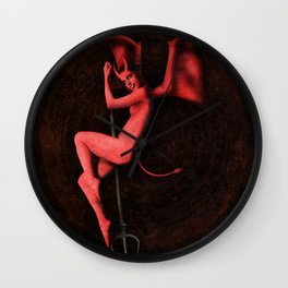 Belle Époque Inferno Wall Clock