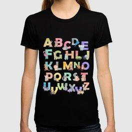 Watercolor Alphabet Animals T-shirt