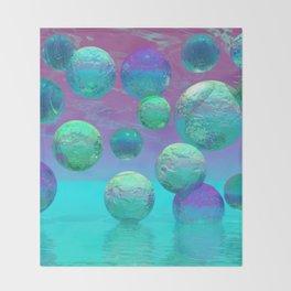 Ocean Dreams - Aqua and Indigo Ocean Universe Throw Blanket