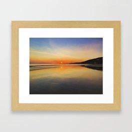 Dawn colours Framed Art Print