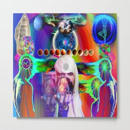 'The Divine Clairs, Extrasensory Perceptions & Abilities Metal Print