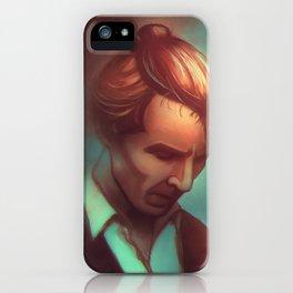 Sherlock Holmes In A Man Bun iPhone Case