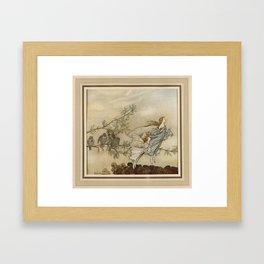 Arthur Rackham (1907) - The fairies and the birds Framed Art Print