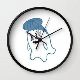 Little Ghost Watery Wall Clock