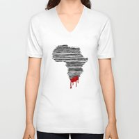 south africa V-neck T-shirts featuring South Africa Bleeds by Design511