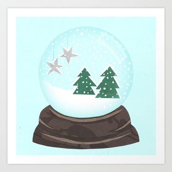 Snow Globe. Art Print