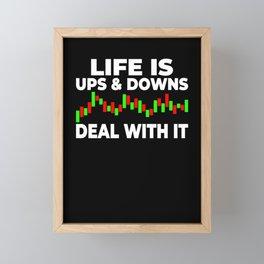 Life ups and downs chart stock trading Framed Mini Art Print