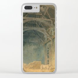"J.M.W. Turner ""Interior of St. John's Palace, Eltham"" Clear iPhone Case"