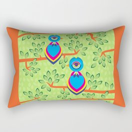 Tropical birds on trees Rectangular Pillow