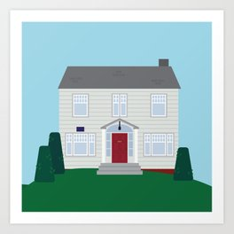 Daily Orange House Art Print