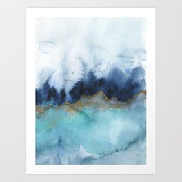 Mystic abstract watercolor Art Print