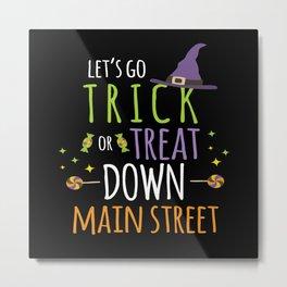 Trick Or Treat Halloween Costume Monster Ghost Metal Print