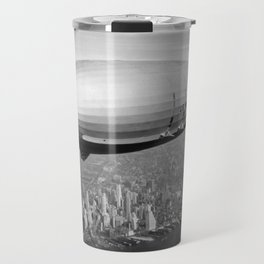 Airship over New York Travel Mug