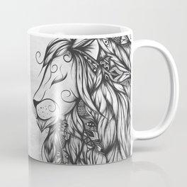 Poetic Lion B&W Coffee Mug